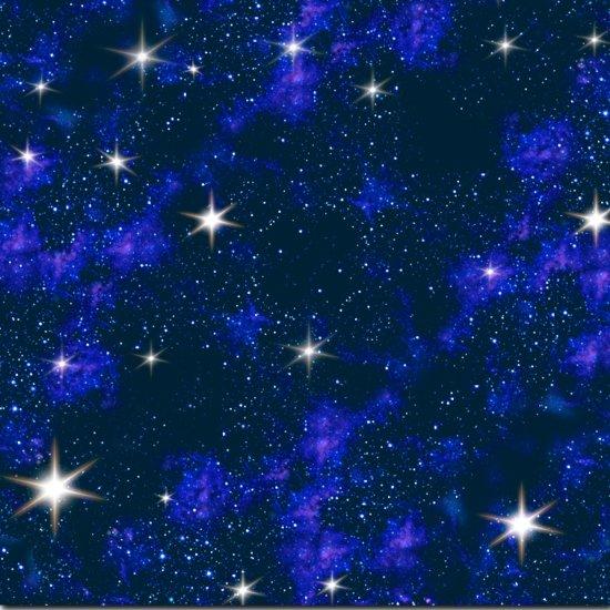 Galaxy with stars on dark skies