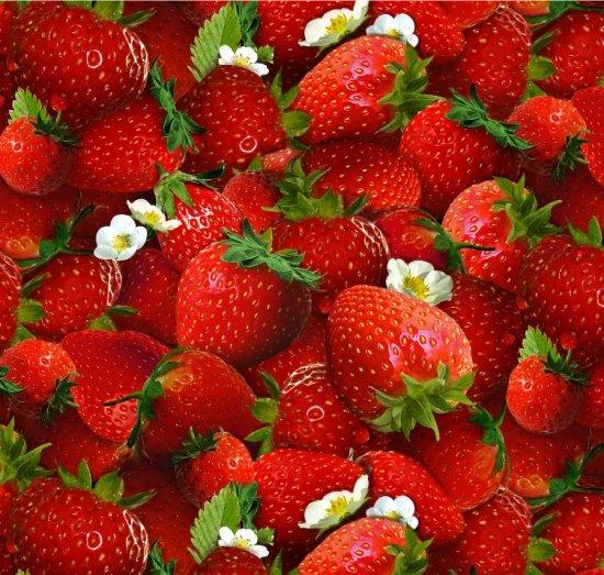 strawberries piled