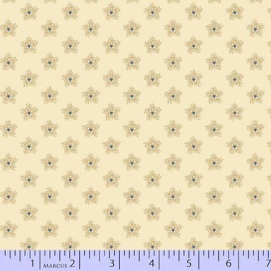 Antique Cottons - tan with small star pattern