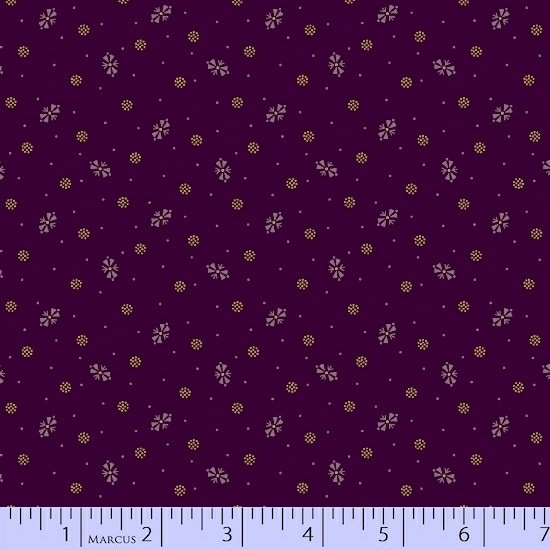 Antique Cottons - purple with small pattern
