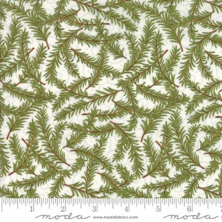 Snow Much Fun - pine boughs on cream