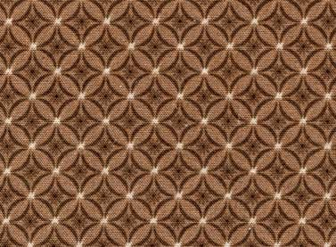 Cottage Basics - diamonds on brown