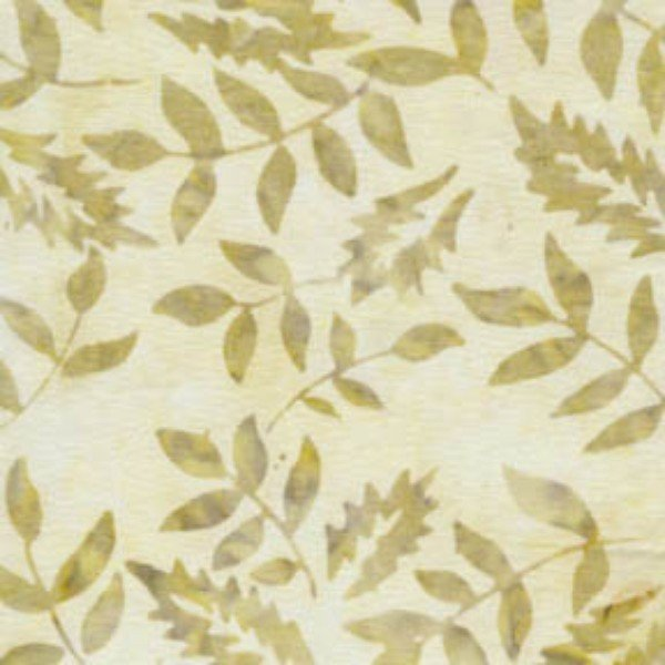 softies - white batiks - fern leaves