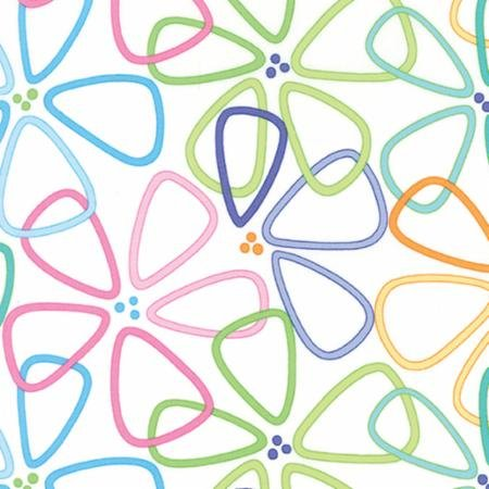 Grow! color stencil flowers