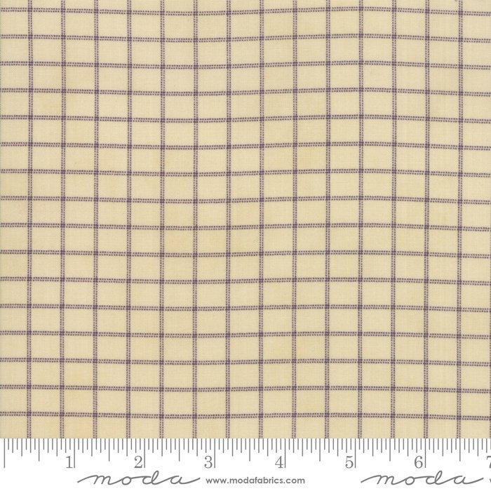 Sweet Violet - lined pattern on ivory