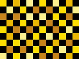 Team Thomas - yellow, black, brown squares