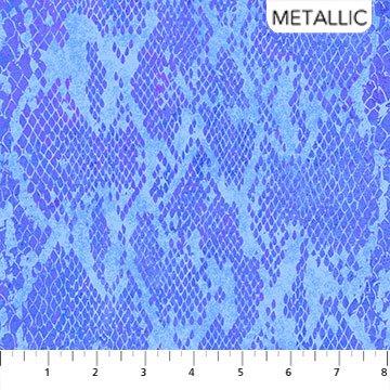 Shimmer Wild Things - blue purple - snake skin pattern