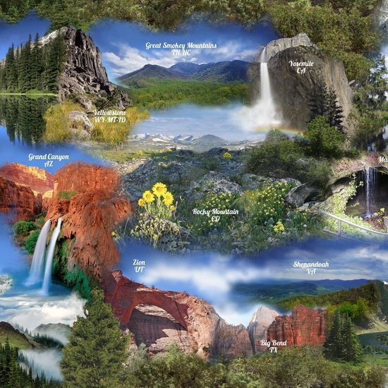 Our National Parks - scenic park scenes