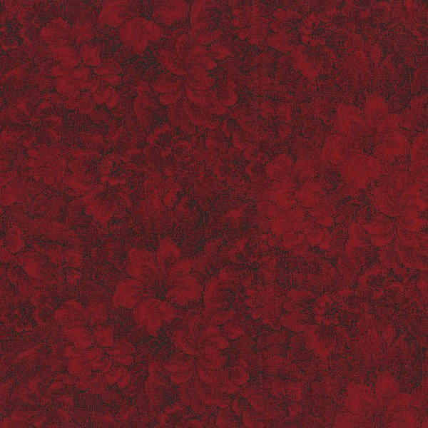 Dalhi red - deep red with floral pattern