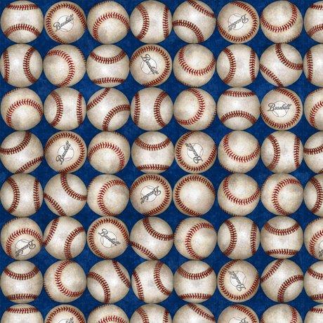 Grand Slam - baseballs in rows on dark blue