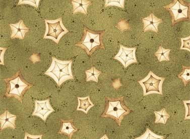 Sew Nice To Be Home - stars on dark green