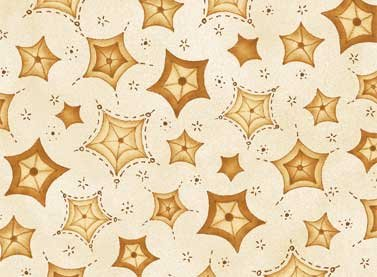 Sew Nice To Be Home - light gold stars on tan