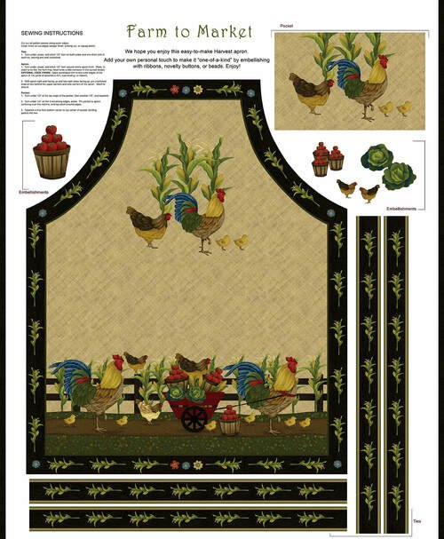 Farm to Market - apron panel