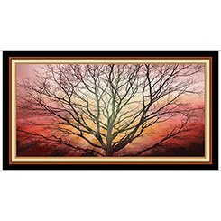 Artworks - Sunburst Sentinel - tree against a sunset background
