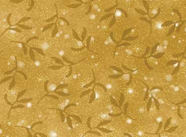 Christmas Bells - tonal leaves gold with gold specks