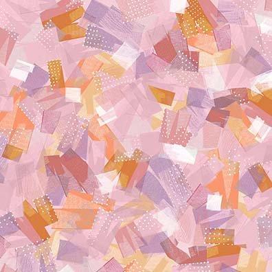 Confetti Blossoms - brushstrokes - pink
