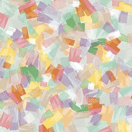 Confetti Blossoms - brushstrokes - multi colors