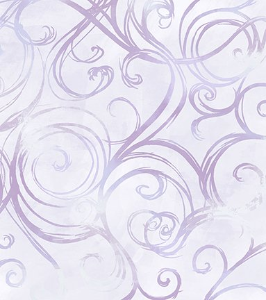 Jacqueline - lavender with scrolls