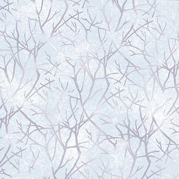 Jacqueline - light blue with branches (pale chambray)