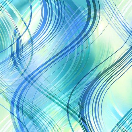 Kenzie - wavy stripes - turquoise