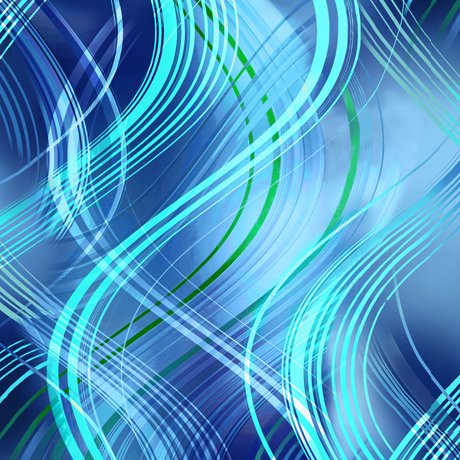Kenzie - wavy stripes - cobalt