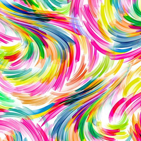 Artworks XII - swirl geo - white