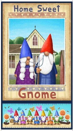 Home Sweet Gnome - American Gothic gnome couple