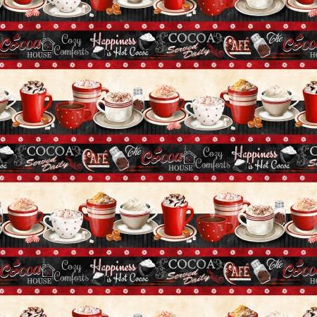 Time for Cocoa - repeating stripe