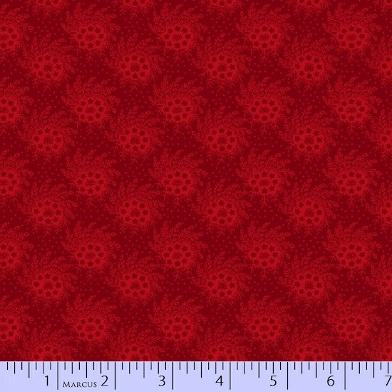 Old Sturbridge Christmas - flowery pattern - red