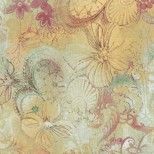 Miyako - putty color - elegant pattern