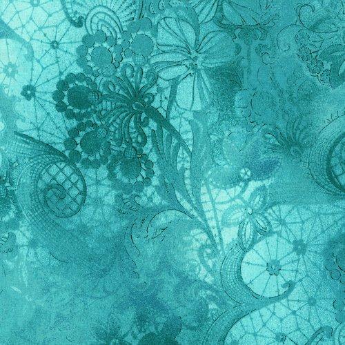 Miyako - turquoise color - elegant pattern