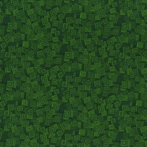 Hopscotch - overlapping squares - forest green
