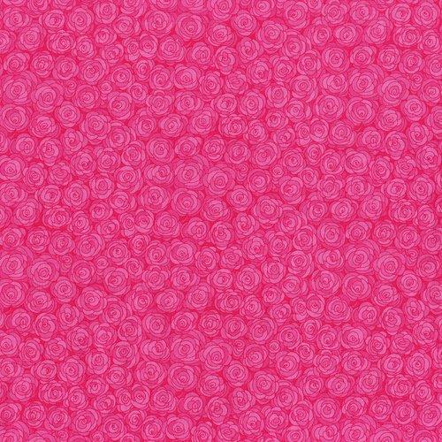 Hopscotch - rose petals - nosegay - deep pink
