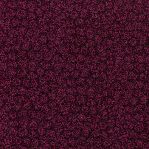 Hopscotch - rose petals - deep burgundy