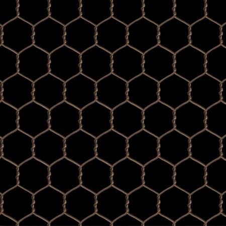 bronze chicken wire on black