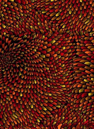 Aruba - brilliant oragnes and yellows - anemone pattern