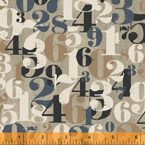 On Time - flannel - numbers on tan