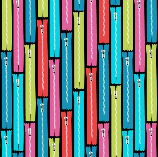 Sew Much Fun - colorful zippers