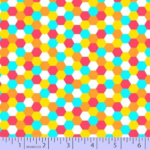 Dots Right! - multi colored hexagons