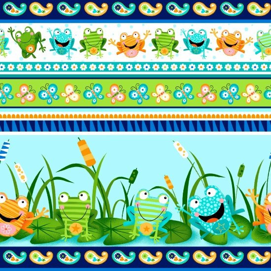 Toad-Ally Terrific - colorful toads in a repeating stripe