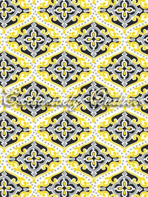 Sundance - geometric design - yellow & gray