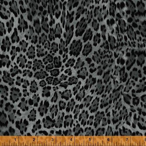 Jungle Minies - gray leopard print