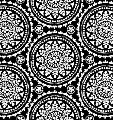Elements - white medallions on black