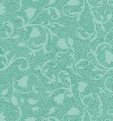 Serenity - tonal - turquoise dots forming flowers