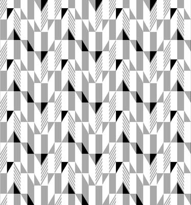 Fade to Black - gray & black triangles on white