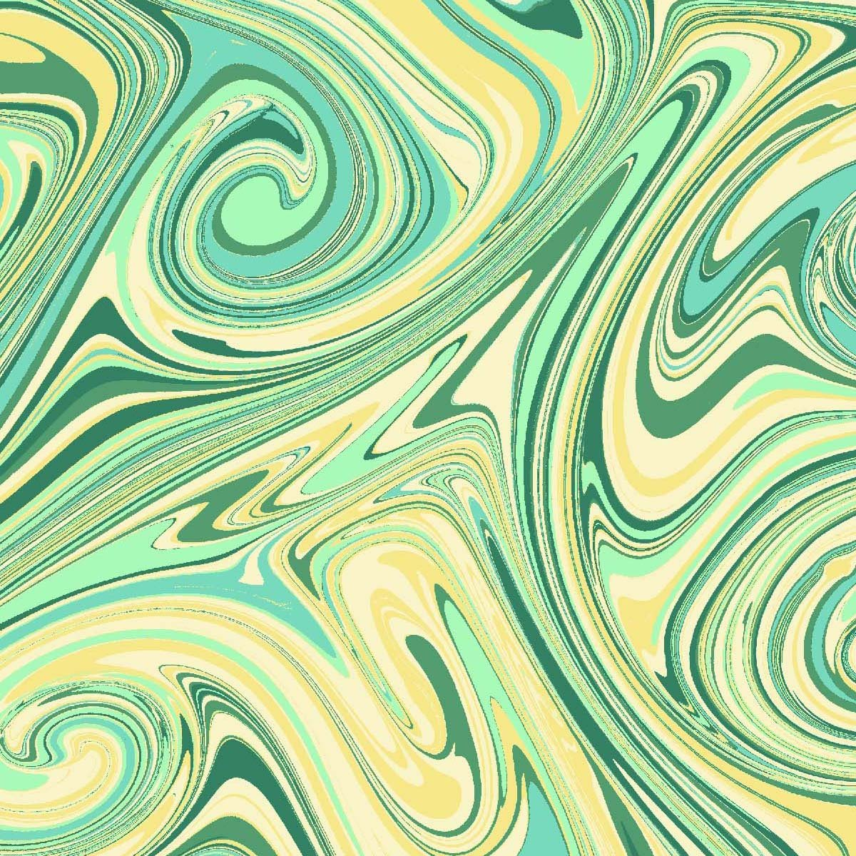 Magic Fountain - green with yellow colors swirled