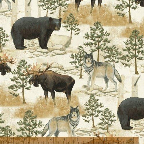 Northwoods - bears, moose, wolves in scenery