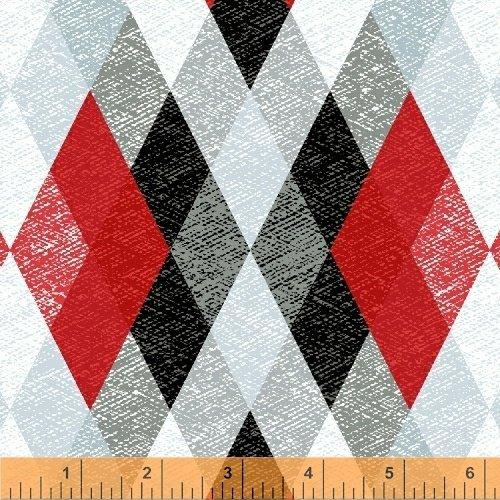 Starlight - red/black/gray diamonds