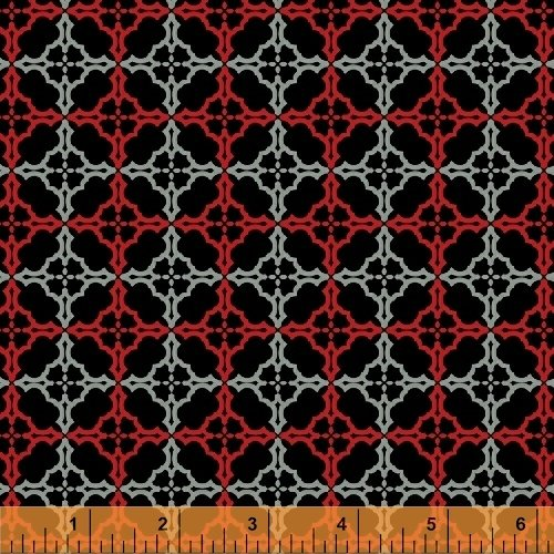 Starlight - red/black/gray medallion patterns