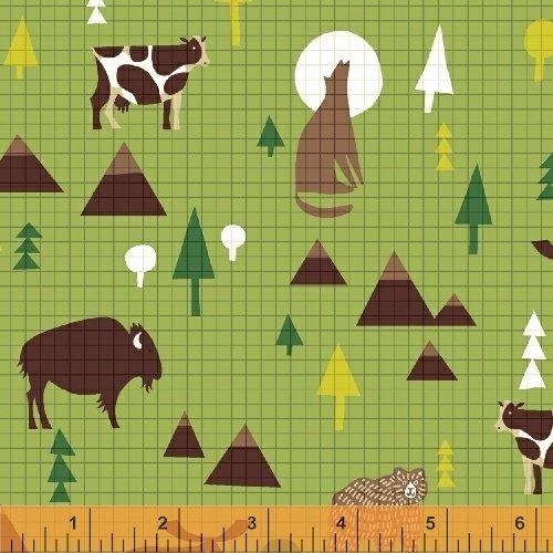 Coast to Coast - United States animal on green background